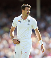 James Anderson of England - England vs Australia - 1st day of the 5th Investec Ashes Test match at The Kia Oval, London - 21/08/13 - MANDATORY CREDIT: Rob Newell/TGSPHOTO - Self billing applies where appropriate - 0845 094 6026 - contact@tgsphoto.co.uk - NO UNPAID USE
