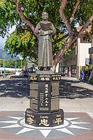 Dr. Sun Yat-sen statue in Chinatown, Honolulu, O'ahu