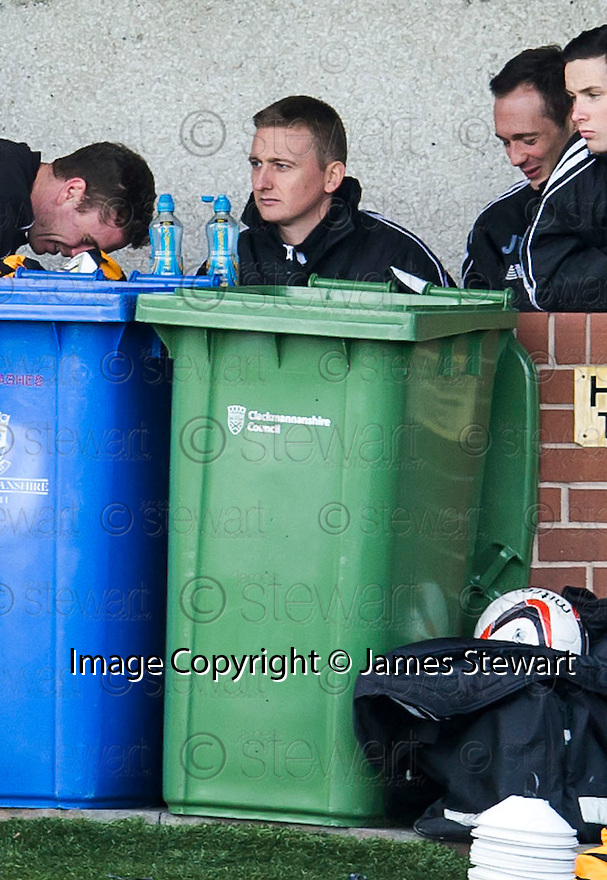 Alloa's Derek Riordan sits out another game.