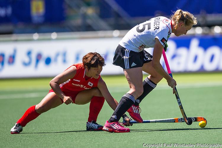 Korea Women vs Germany Women at the Rabobank Hockey World Cup 2014