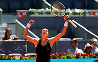 Petra Martic of Croatia in action against Garbine Muguruza of Spain during day two of the Mutua Madrid Open at La Caja Magica on May 05, 2019 in Madrid, Spain. /NortePhoto.com