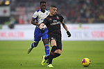 Rade Krunic of AC Milan bursts forwards with Ronaldo Vieira of Sampdoria in pursuit during the Serie A match at Giuseppe Meazza, Milan. Picture date: 6th January 2020. Picture credit should read: Jonathan Moscrop/Sportimage