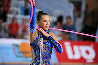 Daria Dmitrieva of Russia performs with rope at 2010 Holon Grand Prix at Holon, Israel on September 3, 2010.  (Photo by Tom Theobald).
