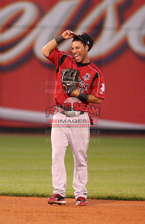 Albuquerque Isotopes shortstop Robert Andino  #11 during the Triple-A All-Star Game at Fifth Third Field on July 12, 2006 in Toledo, Ohio.  (Mike Janes/Four Seam Images)