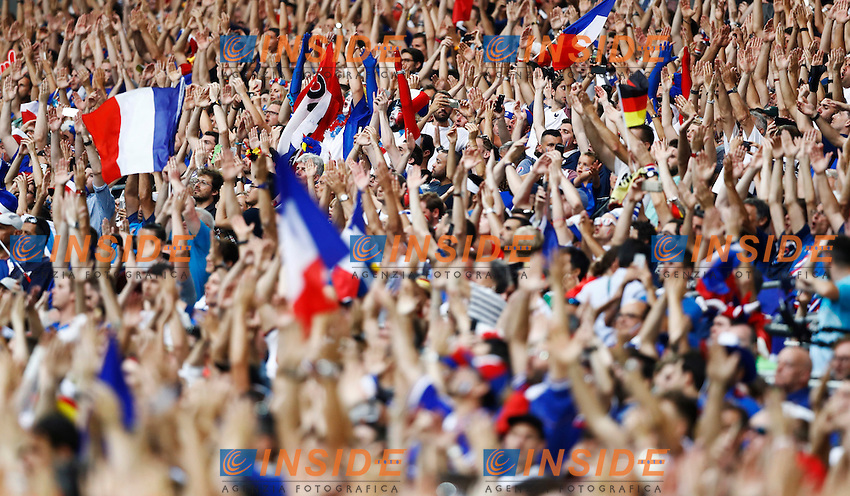 France supporters. tifosi<br /> Marseille 07-07-2016 Stade Velodrome Football Euro2016 Germany - France / Germania - Francia Semi-finals / Semifinali <br /> Foto Matteo Ciambelli / Insidefoto