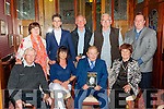 Former Minister John O'Leary held a book signing in the River Island Hotel Castleisland on Friday night front row l-r: Thomas Brosnan, Caroline Reidy, John O'Leary, Sheila Mitchell. Back row: Margaret reidy, Sean O'Leary, Brendan Galwey, John Mitchell and Tommy McEllistrim
