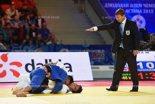 Charles Chibana (BRA), AUGUST 25, 2015 - Judo : World Judo Championships Astana 2015 Men's -66kg 1st round at Alau Ice Palace in Astana, Kazakhstan. (Photo by AFLO SPORT)