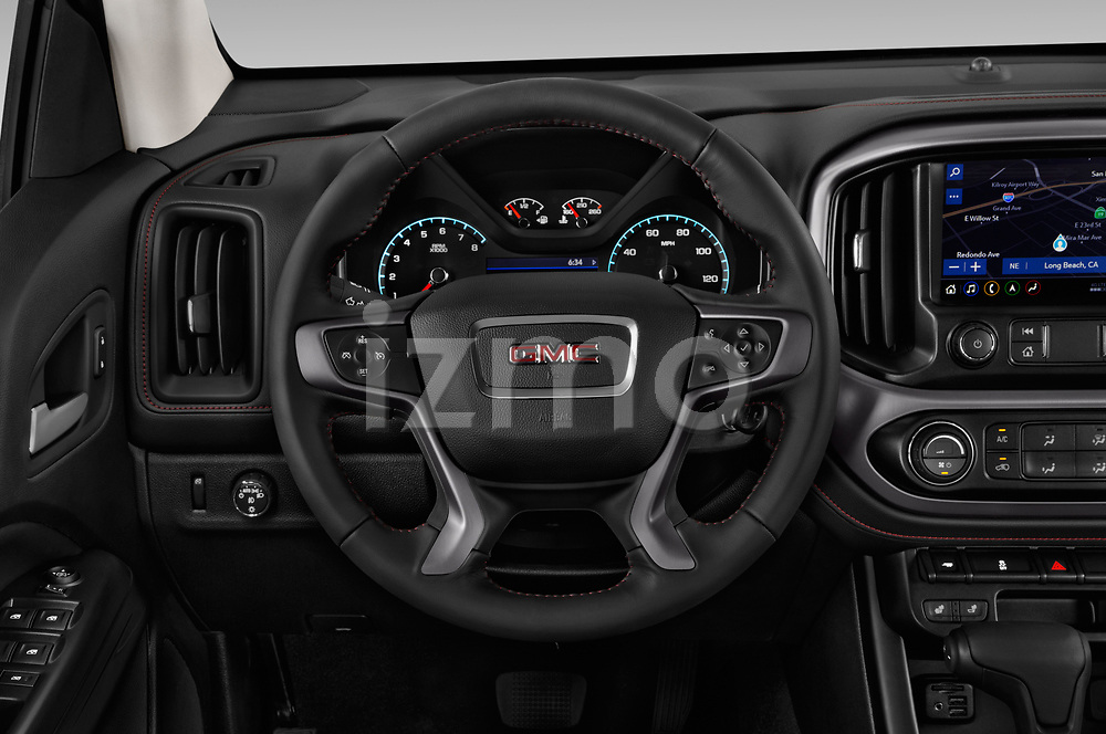 Car pictures of steering wheel view of a 2019 GMC Canyon Allterrain 4 Door Pick Up