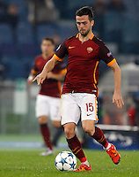 Calcio, Champions League: Gruppo E - Roma vs Bate Borisov. Roma, stadio Olimpico, 9 dicembre 2015.<br /> Roma's Miralem Pjanic in action during the Champions League Group E football match between Roma and Bate Borisov at Rome's Olympic stadium, 9 December 2015.<br /> UPDATE IMAGES PRESS/Riccardo De Luca