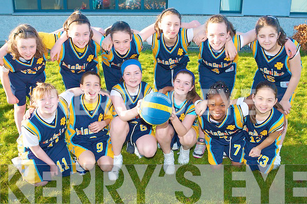 BASKETBALL BLITZ: The Presentation Tralee competing in the National Schools Basketball Blitz at Mercy Mounthawk on Saturday front l-r: Niamh Callaghan, Ciara Killgallen, Niamh Dillan, Alison Moriarty, Tomi Odugbesan and Danielle Pearse. Back l-r: Jane Carmody, Niamh Myers, Mary Doody, Shauna Hanifan, Phena Mulligan and Mia Ryder.