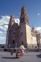 The 18th century baroque-style  cathedral on Plaza de Aramas in the city of Chihuahua, Mexico