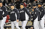Masahiro Tanaka (Yankees),<br /> APRIL 16, 2014 - MLB : Masahiro Tanaka (C) of the New York Yankees celebrates with his teammates after winning the Major League Baseball interleague doubleheader game 2 against the Chicago Cubs at Yankee Stadium in the Bronx, NY, USA.<br /> (Photo by AFLO)
