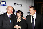 Artie Butler (music) & Iris Rainer Dart (Book & Lyrics) & Mike Stoller (music) at Opening Night of Roundabout Theatre Company's Broadway production of The People in the Picture on April 28, 2011 at Studio 54 Theatre, New York City, New York. (Photo by Sue Coflin/Max Photos)