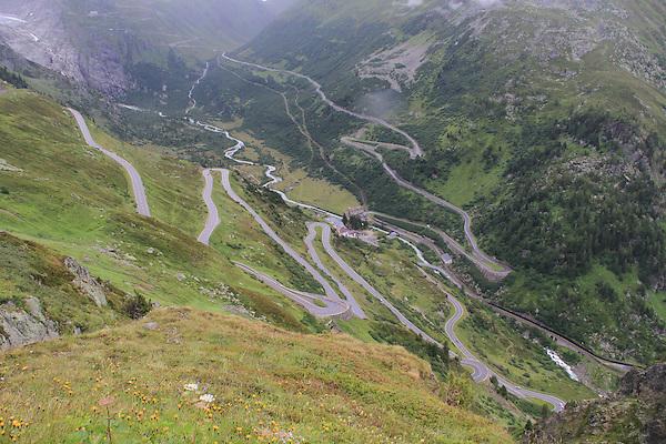 Mountain pass in the Alps near Lauterbrunnen, Switzerland.