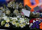 25.09.2018 Funeral service for Fernando Ricksen: Flowers from Hibs for Fernando