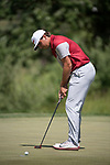 SUGAR GROVE, IL - MAY 31: Blaine Hale of the University of Oklahoma putts during the Division I Men's Golf Team Championship held at Rich Harvest Farms on May 31, 2017 in Sugar Grove, Illinois. Oklahoma won the team national title. (Photo by Jamie Schwaberow/NCAA Photos via Getty Images)