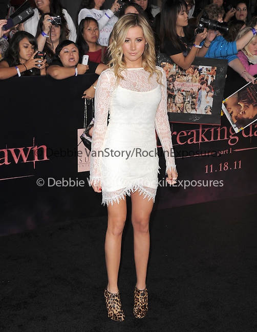Ashley Tisdale  attends The Los Angeles premiere of Summit Entertainment's THE TWILIGHT SAGA: BREAKING DAWN PART 1 HELD AT Nokia Theatre at L.A. Live in Los Angeles, California on November 14,2011                                                                               © 2011 DVS / Hollywood Press Agency
