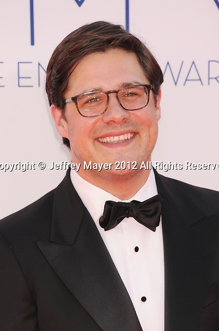 LOS ANGELES, CA - SEPTEMBER 23: Rich Sommer arrives at the 64th Primetime Emmy Awards at Nokia Theatre L.A. Live on September 23, 2012 in Los Angeles, California.