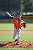 Baltimore Orioles pitcher Brenan Hanifee (78) delivers a pitch during an Instructional League game against the New York Yankees on September 23, 2017 at the Yankees Minor League Complex in Tampa, Florida.  (Mike Janes/Four Seam Images)
