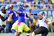 Newark, DE - OCT 29, 2016: Delaware Fightin Blue Hens quarterback Joe Walker (3) in action during game between Towson and Delaware at Delaware Stadium Tubby Raymond Field in Newark, DE. (Photo by Phil Peters/Media Images International)