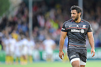 Billy Vunipola of Saracens during the European Rugby Champions Cup  Round 1 match between Saracens and ASM Clermont Auvergne at the Twickenham Stoop on Saturday 18th October 2014 (Photo by Rob Munro)