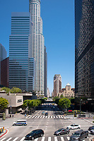 Buildings in downtown Los Angeles, June 12, 2014.<br /> (Photo by Marc Campos, Occidental College Photographer)