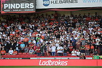 Swansea City fans watch on during the Sky Bet Championship match between Sheffield United and Swansea City at Bramall Lane, Sheffield, England, UK. Saturday 04 August 2018