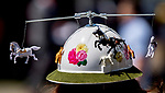ELMONT, NY - JUNE 09: A fan's creative hat seen on Belmont Stakes Day at Belmont Park on June 9, 2018 in Elmont, New York. (Photo by Kazushi Ishida/Eclipse Sportswire/Getty Images)