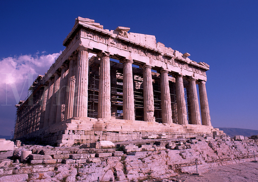 The Parthenon on the Acropolis. Athens, Greece.