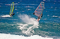 Windsurfing the Waves at Hookipa Beach, Maui, Hawaii, USA        No Releases