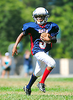 Pleasanton Junior Football League action in Pleasanton California Saturday August 27, 2011. (Photo by Alan Greth/ AGP Photography).