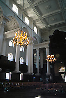 Nicholas Hawksmoor: Christ Church, Spitafields. 3/4 view of SW interior. Photo '05.