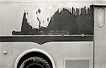 Panel truck with peeling paint.  File #73-138-17