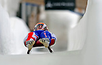 7 February 2009: Adam Rosen slides for Great Britain in the Men's Competition at the 41st FIL Luge World Championships, in Lake Placid, New York, USA. .  .Mandatory Photo Credit: Ed Wolfstein Photo