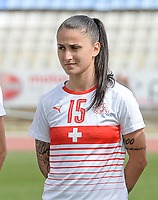 20180305 - LARNACA , CYPRUS : Swiss Francesca Calo pictured during a women's soccer game between Switzerland and Wales , on monday 5 March 2018 at GSZ Stadium in Larnaca , Cyprus . This is the third game in group A for Switzerland and Wales during the Cyprus Womens Cup , a prestigious women soccer tournament as a preparation on the World Cup 2019 qualification duels. PHOTO SPORTPIX.BE | DAVID CATRY