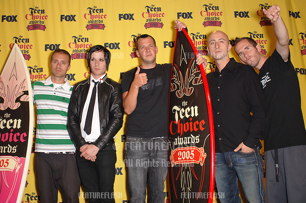 SIMPLE PLAN at the 2005 Teen Choice Awards at the Universal Amphiteatre, Hollywood..August 14, 2005  Los Angeles, CA.© 2005 Paul Smith / Featureflash