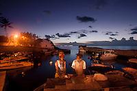 Lightpaining scenes of Bermuda
