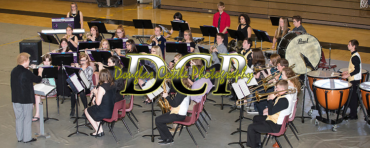 """May 8, 2017- Tuscola, IL- The TCHS Concert Band perform """"Declaration Overture"""" during the annual TCHS Spring Concert. [Photo: Douglas Cottle]"""