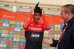 Alberto Contador (ESP) Trek-Segafredo wins Stage 20 of the 2017 La Vuelta, running 117.5km from Corvera de Asturias to Alto de l'Angliru, Spain. 9th September 2017.<br /> Picture: Unipublic/&copy;photogomezsport | Cyclefile<br /> <br /> <br /> All photos usage must carry mandatory copyright credit (&copy; Cyclefile | Unipublic/&copy;photogomezsport)