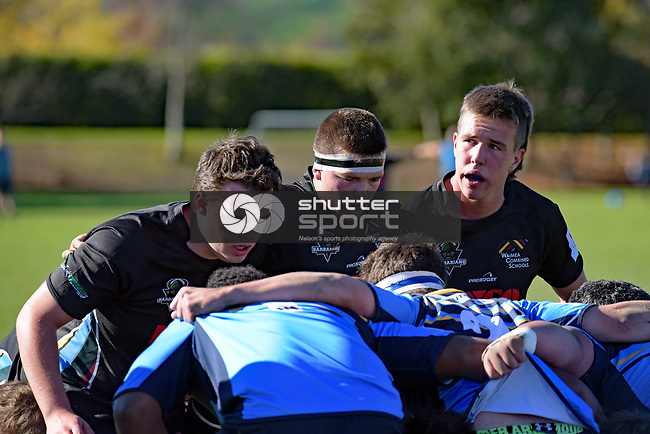 NELSON, NEW ZEALAND - JUNE 3: Waimea Combined v Shirley Boys High, Waimea College, June 3, 2017, Nelson, New Zealand. (Photo by: Barry Whitnall Shuttersport Limited)