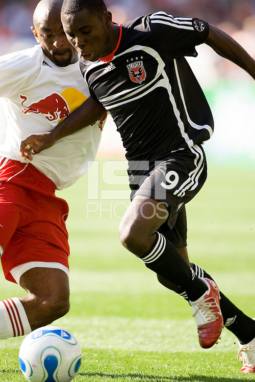 of the season opener between the New York Red Bulls and D. C. United at Robert F. Kennedy Memorial Stadium, Washington, D. C., on April 02, 2006.