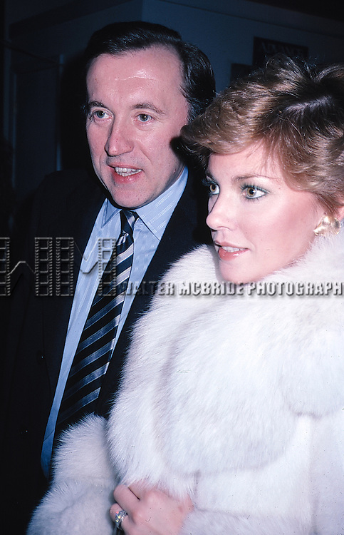 David Frost and Lynn Frederick in New York City on 1/15/1981