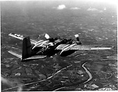 The A-26, a follow-up airplane to the A-20 Havoc, made its first flight on July 10, 1942. Production delivery began in August 1943, and on November 19, 1944, it went into combat over Europe. It was used for level bombing, ground strafing and rocket attacks. By the time production halted after VJ-Day, 2,502 Invaders had been built.  The A-26 was redesignated the B-26 in 1948. During the Korean War, the airplane entered combat once again, this time as a night intruder to harass North Korean supply lines.   Early in the Vietnam conflict, the Invader went into action for the third time. Also, the United States Air Force (USAF) ordered 40 modified B-26Bs having more powerful engines and increased structural strength. Designated the B-26K, the airplanes were designed for special air warfare missions. In 1966, the B-26K was redesignated the A-26A. .Credit: U.S. Air Force via CNP