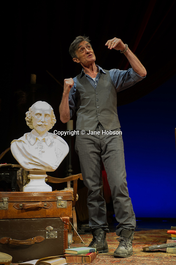 Roger Rees appears in WHAT YOU WILL at the Apollo Theatre. A somewhat irrevereant one-man, everything there is 'to be or not to be' play about William shakespeare. Picture shows Roger Rees.