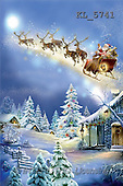 Interlitho, Patricia, CHRISTMAS SANTA, SNOWMAN, paintings, sleigh, flying(KL5741,#X#) Weihnachtsmänner, Schneemänner, Weihnachen, Papá Noel, muñecos de nieve, Navidad, illustrations, pinturas