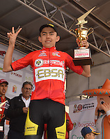 BOYACA - COLOMBIA: 11-09-2016. Oscar Rivera campeón general de la 38 versión de la vuelta Ciclista a Boyaca 2016 que se corre entre  Sora y Tunja. La prueba se corre entre el  7 y el 11 septiembre de 2016./ Oscar Rivera general champion of the Vuelta a Boyaca 2016 that took place between village of Sora and Tunja city. The race is held between 7 and 11 of September of 2016 . Photo:  VizzorImage/ José Miguel Palencia / Liga Ciclismo de Boyaca