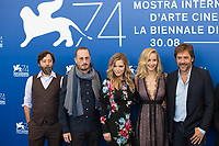 Michelle Pfeiffer, Jennifer Lawrence, Darren Aronofsky, Javier Bardem, Scott Franklin, Ari Handel at the &quot;Mother!&quot; photocall, 74th Venice Film Festival in Italy on 5 September 2017.<br /> <br /> Photo: Kristina Afanasyeva/Featureflash/SilverHub<br /> 0208 004 5359<br /> sales@silverhubmedia.com