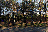 """Sculptures are seen at """"Grounds For Sculpture"""" park and museum in Central Park in Hamilton Township 08.11.2015.Grounds For Sculpture is a 42-acre sculpture park with six indoor galleries, a Museum Shop Kena Betancur/VIEWpress."""