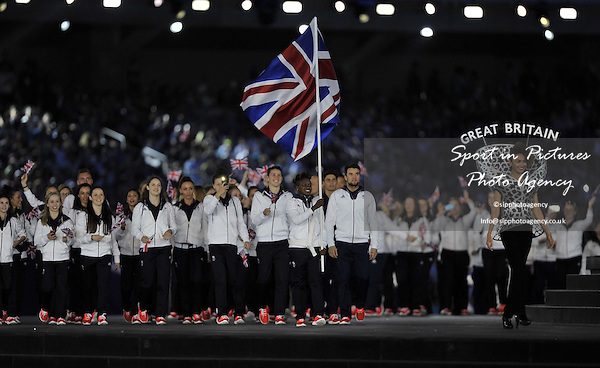 TeamGB make an entrance led by flag bearer Nicola Adams. Opening Ceremony. Olympic Stadium. Baku. Azerbaijan. Baku2015. 1st European Games. 12/06/2015. MANDATORY CREDIT Garry Bowden/SIPPA - NO UNAUTHORISED USE - +447837 394578