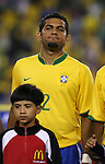 12 September 2007: Brazil's Daniel Alves. The Brazil Men's National Team defeated the Mexico Men's National Team 3-1 at Gillette Stadium in Foxborough, Massachusetts in an international friendly.